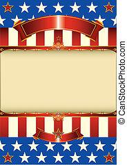 patriotique, américain, cadre