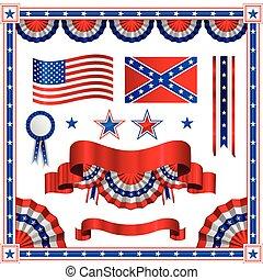 patriotique, américain, conception