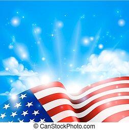 patriotique, américain, conception, drapeau