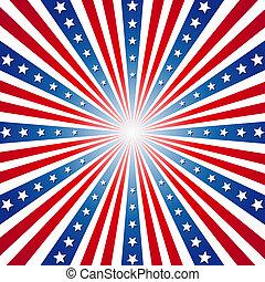 patriotique, américain, jour, fond, indépendance
