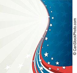 patriotique, américain, vecteur, drapeau, fond