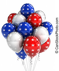 patriotique, ballons