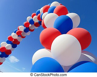 patriotique, ballons
