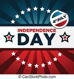 patriotique, bannière, jour, indépendance