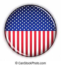 patriotique, bouton, usa
