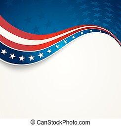patriotique, fond, vague