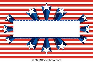 patriotique, fond, vecteur