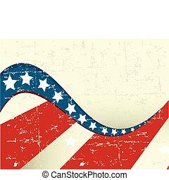 patriotique, grange, fond