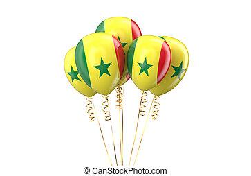 patriotique, holyday, sénégal, concept, ballons