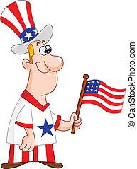 patriotique, homme