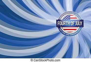 patriotique, juillet, jour, quatrième, indépendance
