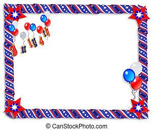patriotique, raies étoiles, frontière