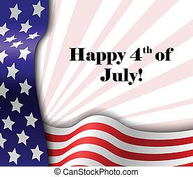patriotique, texte, juillet, 4, cadre