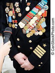 patriotique, vétéran, grand, guerre