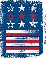 patriotique, vecteur, éléments