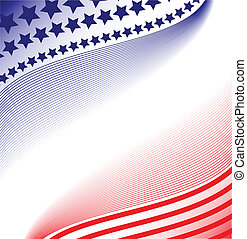 patriotisch, abstrakt