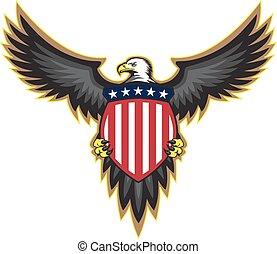 patriotisch, adler, schild