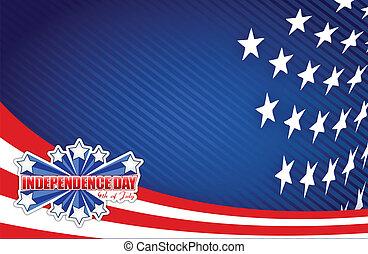 patriotisch, juli, tag, viert, unabhängigkeit