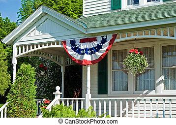 patriotisch, vorhalle