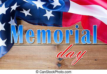 memorial day words over american flag on wood - patriotism...