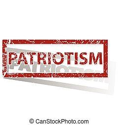PATRIOTISM outlined stamp