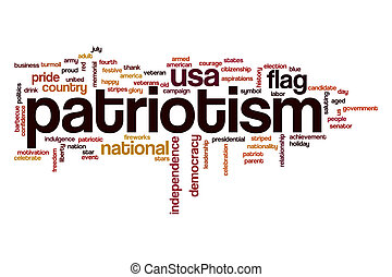 Patriotism word cloud concept