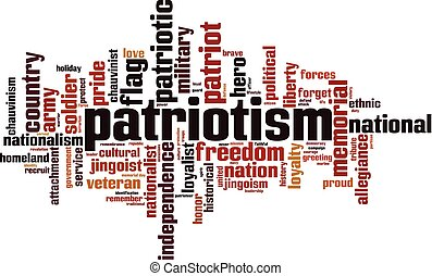 Patriotism word cloud