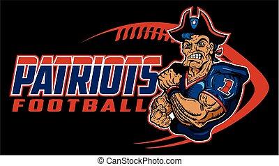 patriots football - muscular patriots football player team...