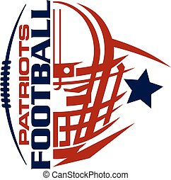 patriots football team design with helmet and facemask for ...