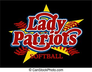 patriots, softball labdajáték, hölgy