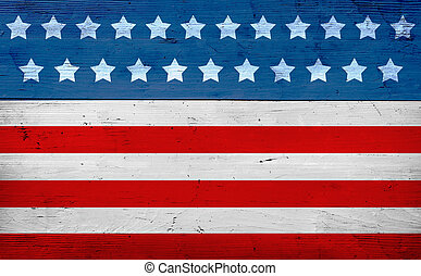 patriottico, americano, bandiera, bandiera
