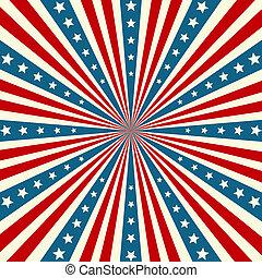 patriottico, americano, giorno, fondo, indipendenza