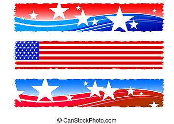 patriottico, bandiere, giorno, indipendenza