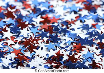patriottico, coriandoli