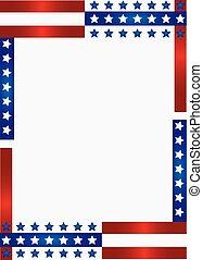 patriottico, cornice, fondo