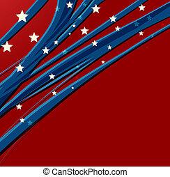 patriotyczny, amerykanka, dzień, tło, niezależność