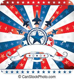 patriotyczny, amerykanka, projektować