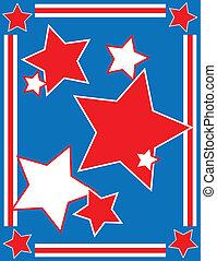 patriotyczny, backgrou, wektor, gwiazda, eps8