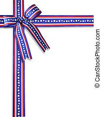 patriotyczny, brzeg, pasy, gwiazdy