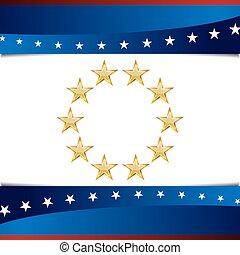 patriotyczny, gwiazda, tło, ikona