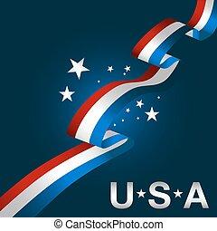 patriotyczny, usa, tło, ikona