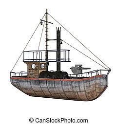 Patrol boat - 3D render