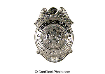 A silver patrol boys badge from the 1950s