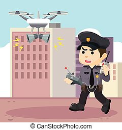 Patrol police with drone