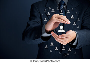 Patron and leader concept - Patron, customer care, care for...