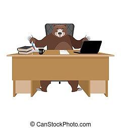 vecteurs de salle bureau ouvrier desk patron directeur chef csp46868633 rechercher. Black Bedroom Furniture Sets. Home Design Ideas