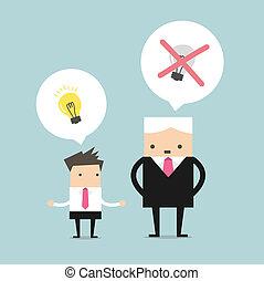 patron, idées, meurtre
