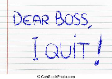 patron, malheureux, quit:, employé, cher, message