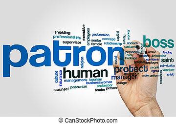 Patron word cloud - Patron concept word cloud background