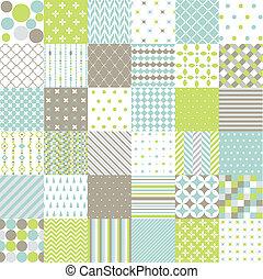 patrones, álbum de recortes, digital, seamless